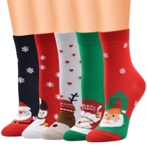 Niedliche Socken mit Cartoon und Weihnachtsmotiven