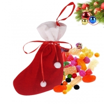 Moderne Weihnachtssocke mit Kontrastierenden Farben