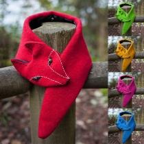 Netter Fuchsförmiger Schal in Volltonfarbe