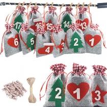 Kreative Weihnachtsbaumdekoration Säckchen-Anhänger für Süßigkeiten und Geschenke als Adventskalender für in den Weihnachtsbaum für Erwachsene und Kinder