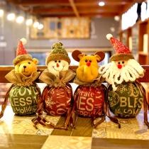 Niedliche Weihnachtliche Säckchen für Süßigkeiten in 3D Puppeenform