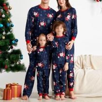 Modernes Pyjama-Set für Eltern und Kinder mit Weihnachtsmuster