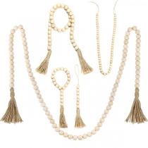 Moderne Hausdekoration mit  Quasten und Perlen