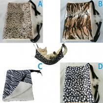 Moderne Hängematte Schlafsack für Haustiere mit Schickem Muster un Plüschfutter