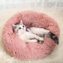 Niedliche Plüsch-Matratze für Haustiere in Kuchenform und Volltonfarbe