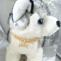 Moderne Halskette für Haustiere mit Eingelegtem Strass
