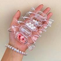 Zubehör im Kreativen Stil Transparente Behälter in Bonbon-Form 5 Stück/Set