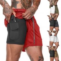 Moderne Sportliche Shorts für Herren mit Elastischer Taille