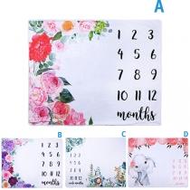 Niedliche Fotografie-Decke für Babys mit Tiere und Blumenmotiven