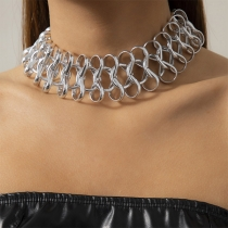 Ausgeschnittene Choker Halskette im Hip-Hop-Stil