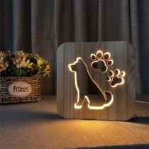 Kreative Hölzerne Nachtlampe im Niedlichem Hundedesign