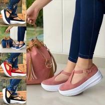 Lässige Schuhe mit Dicken Sohlen und Runden Spitzen