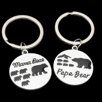 Niedliche Schlüsselanhänger mit Mama-Bär und Papa-Bär-Anhänger