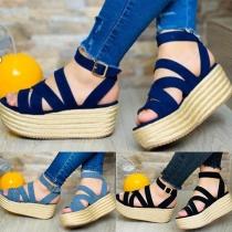 Moderne Offene Schuhe mit Dicken Sohle und Freien Zehen