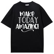 """Schwarzes T-Shirt für Herren mit dem Text """"Make Today Amazing"""""""