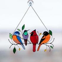 Kunstvolles Ornament zur Heimdekoration mit Vögeln zum Aufhängen an Fenstern und Türen