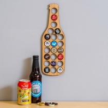 Kreativer Bierdeckelhalter in Bierflaschenform