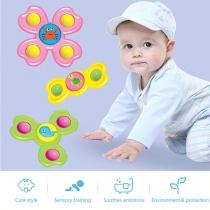3 STÜCK Kreiselspielzeug mit Saugnapf und Cartoon-Tierabbbildungen für Babys und Kleinkinder 3 Stück/Set