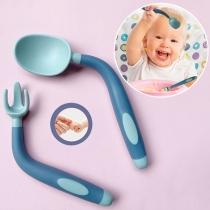 Fütterlöffel und -Gabel Geschirr-Set für Babys und Kleinkinder 2 Stück/Set