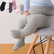 Einfache Einfarbige Strumpfhose für Babys und Kleinkinder