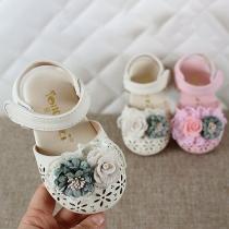 Niedliche Geschlossene Sandalen für Babys und Kleinkinder mit 3D-Blumen