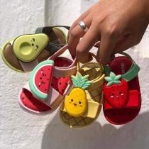 Niedliche Sandalen für Babys und Kleinkinder mit Anti-Rutsch-Sohlen Offenen Zehen und Fruchtformen