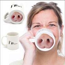 Lustige Nase Schweinchen Becher Schweinchen Nase Schwein Nase Kaffee Teetasse Lustiges Geschenk