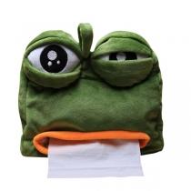 Lustige traurige Froschtaschentuchbox Geschenkauto pumpende Taschentuchbox