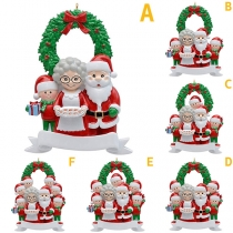 Nette DIY Dekoration mit Weihnachtsmann-Familie