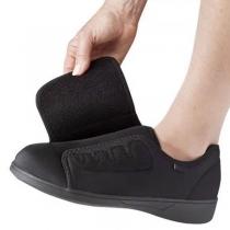 Moderne Freizeitschuhe mit Klettverschluss Flachen Sohlen und Runden Zehen