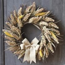50 cm Herbstkranz zum Erntedankfest mit Girlande Goldenem Weizen für Hochzeit und Heimdekoration