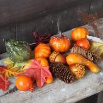 Künstliches Kürbis-Dekorationsset für Halloween Thanksgiving