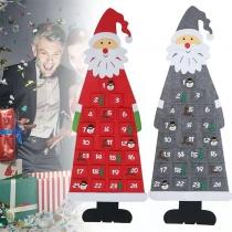 Kreativer Weihnachtsmann-förmiger Adventskalender