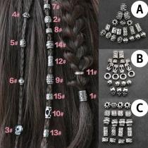 Haarringe im Punk-Stil für Dreadlocks