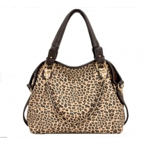 Modische jokere Handtasche mit Druck von Leoparden