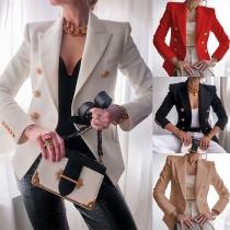 Stilvoller Blazer mit Langen Ärmeln und Zweireihigem Design
