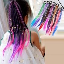 Kreatives DIY Haarflechtset für Kinder mit Farbverlauf 3 Stück/Set