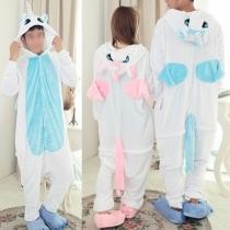Niedliche Karikatur Einhorn Kostüm Cosplay Overall Pyjamas Schlafanzug Nachtwäsche