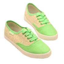 Sweet Lace Spliced Canvas Shoes