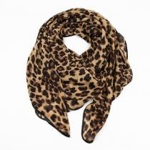 Schal mit Leoparddruck $ modischer Schal